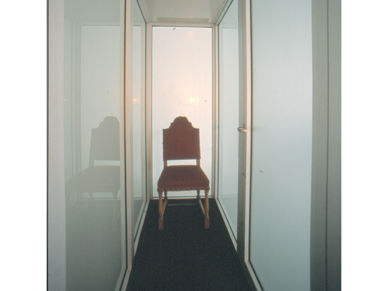 Photo of chair inside Camera obscura